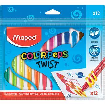 Lápis de Cera Maped Colorpeps Twist 12 Unidades