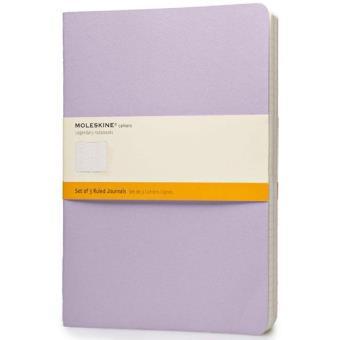 Moleskine: 3 Cadernos Pautados XL Cores Pastel
