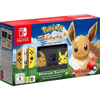 Consola Nintendo Switch Pokémon Let's Go, Eevee  + Poké Ball Plus