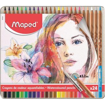Lápis de Cor Aguarela Maped - 24 Unidades