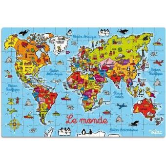 madeira mapa mundo Mala Puzzle Mapa Mundo em Madeira (150 Peças)   100 300 Peças  madeira mapa mundo