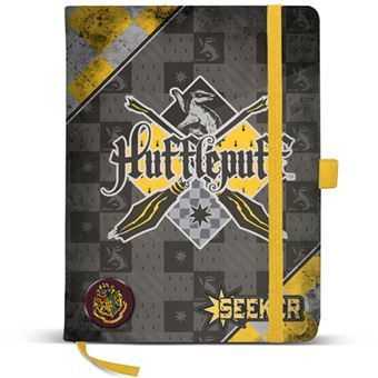 Caderno Liso Harry Potter Quidditch - Hufflepuff A5