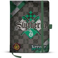 Caderno Liso Harry Potter Quidditch - Slytherin A5