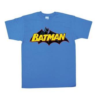 Batman - T-Shirt Retro Logo Blue (L)