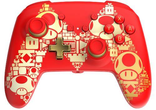 POWER A - Comando Dourado Com Fio Mario Nintendo Switch