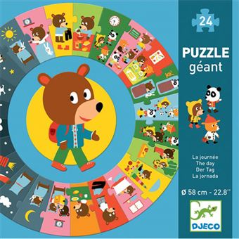 Puzzle Redondo O Meu Dia - 24 Peças - Djeco