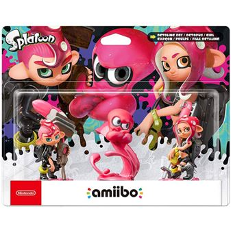 Amiibo  Octoling Boy + Octopus + Girl - Nintendo Switch