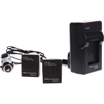 Carregador + 2 Baterias para Hero4 PRO-Mounts Battery Kit Hero 4