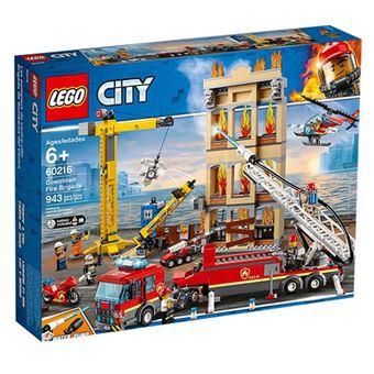 LEGO City Fire 60216 Bombeiros Combatem o Fogo no Centro da Cidade