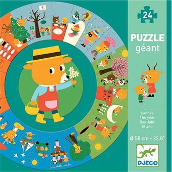 Puzzle Redondo O Meu Ano - 24 Peças - Djeco
