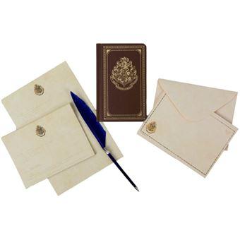 Caderno Pautado, Papel de Carta, Envelopes e Esferográfica Pena Harry Potter - Hogwarts