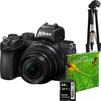Nikon Z50 + NIKKOR Z DX 16-50mm f/3.5-6.3 VR + Tripé + Cartão SD + e-Book