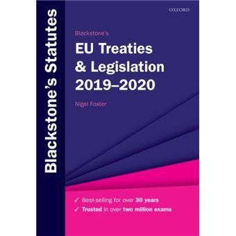 Blackstone's EU Treaties & Legislation 2019-2020
