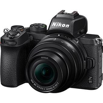 Nikon Z50 + NIKKOR Z DX 16-50mm VR + Z DX 50-250 VR + Tripé + Cartão SD + Bolsa + e-Book