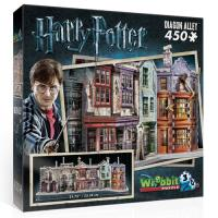 Puzzle 3D Harry Potter Diagon Alley 450 Peças - Wrebbit