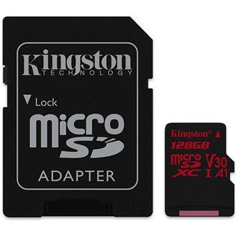 Cartão microSDXC Kingston Canvas React Classe 10 - 128GB