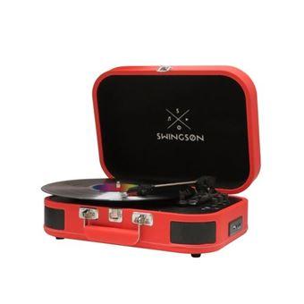 Gira Discos Swingson ST226 Bluetooth - Vermelho