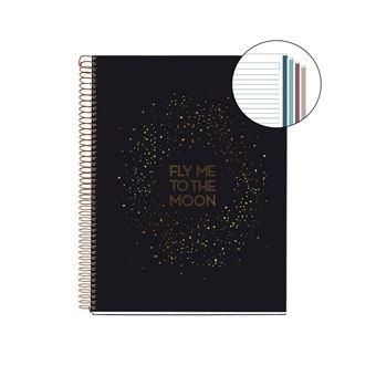 Caderno Pautado Miquelrius A4 Galaxy Preto
