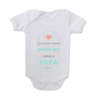 Body para Bebé Mr. Wonderful - Quando Crescer Quero Ser Como o Papá