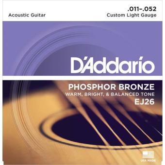 Jogo de Cordas para Guitarra Acústica EJ26 011-052