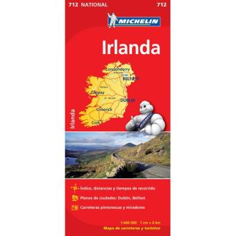 Mapa Michelin Nacional 712 - Irlanda