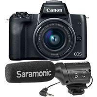 Canon EOS M50 + EF-M 15-45mm f/3.5-6.3 IS STM - Preto + Microfone SR-M3