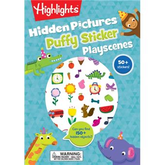 Hidden picture sticker playscenes