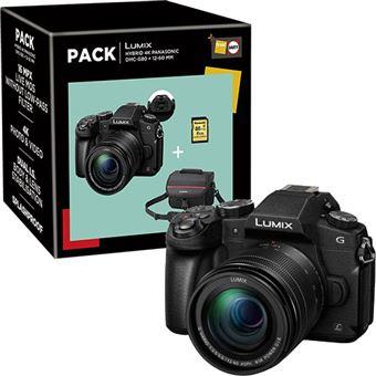 Pack Fnac Panasonic Lumix DMC-G80 + G Vario 12-60mm f/3.5-5.6 ASPH. POWER O.I.S. + Bolsa + Cartão Memória