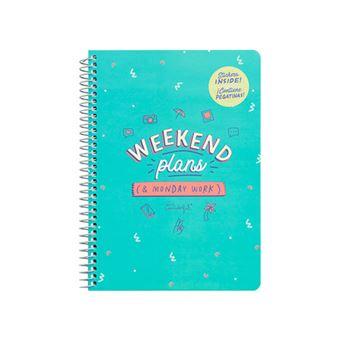 Caderno Pequeno Mr. Wonderful - Weekend Plans and Monday Work