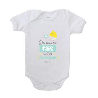 Body para Bebé Mr. Wonderful - Os Meus Pais São Fenomenais