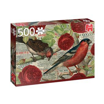 Puzzle Birds Love Flowers - 500 Peças