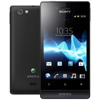 sony xperia miro black smartphone android compre na
