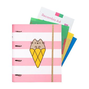 Dossier de 4 Argolas Pusheen the Cat - Rose Collection