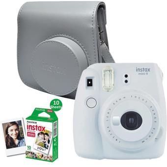 Kit Fujifilm INSTAX Mini 9 - Branco Esfumado