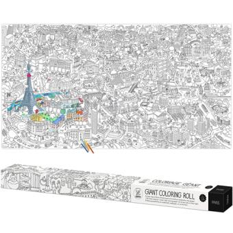 Póster Para Colorir Coloring XXL - Mapa de Paris