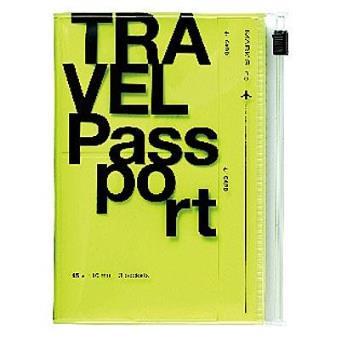 Bolsa para Passaporte Travel Organizer Amarelo Neon
