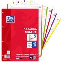 Recarga Pautada Oxford Smart 5 Cores A4 - 100 Folhas