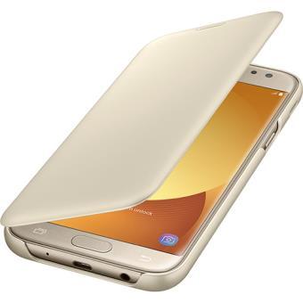 Capa Flip Samsung Wallet para Galaxy J5 2017 - Dourado