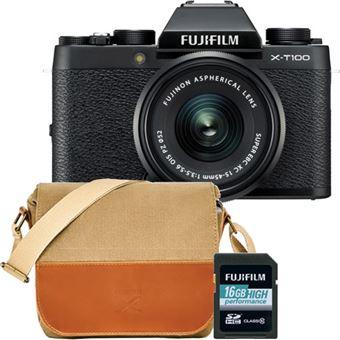 Fujifilm X-T100 + XC 15-45mm f/3.5-5.6 OIS PZ - Preto + Bolsa + Cartão Memória