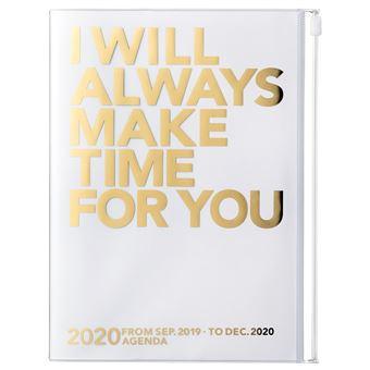 Agenda Semanal Vertical 16 Meses, 2019-2020 Mark's - Make Time Dourado A5