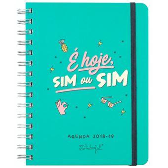 Agenda Semanal Escolar 2018-2019 Mr. Wonderful - É Hoje, Sim ou Sim A5