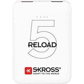 Power Bank Skross Reload 5 5000mAh - Branco
