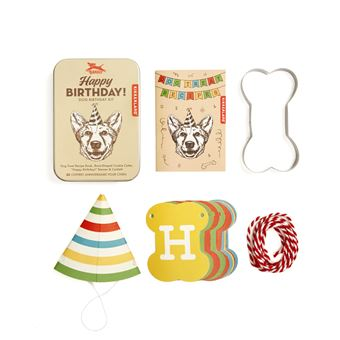 Kit para Cães Kikkerland - Happy Birthday!