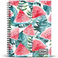 Caderno Quadriculado Oh My Pop! - Watermelon A5