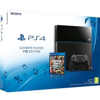 Consola Sony PS4 Black 1TB + Grand Theft Auto V (GTA V)