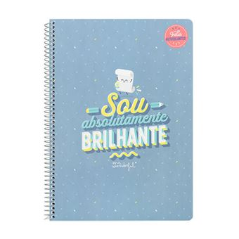 Caderno Mr. Wonderful - Sou Absolutamente Brilhante
