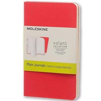 Caderno Pautado Moleskine Volant X Vermelho - 2 Unidades