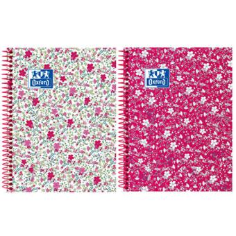 Caderno Pautado Oxford Floral A5 - Envio Aleatório