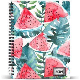 Caderno Quadriculado Oh My Pop! - Watermelon A4