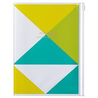 Agenda Semanal Vertical 15 Meses, 2019-2020 Mark's - Triângulos Amarelo A5